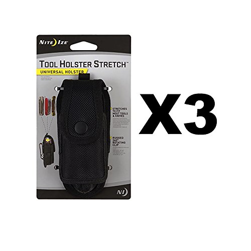 Nite Ize Tool Holster Stretch Universal Multi-Tool/Flashlight Holder (3-Pack) by Nite Ize