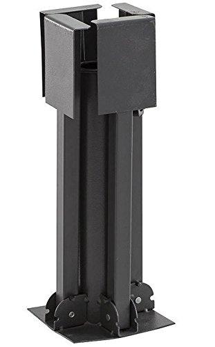 Pied de parasol pliant en acier coloris anthracite - Dim : 76 x 76 x 30 cm