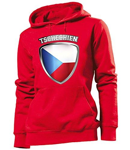 Copa del Mundo de fútbol - Campeonato de Europa de Fútbol - TSCHECHIEN FAN mujer Capucha Tamaño S to XXL varios colores S-XXL Rojo
