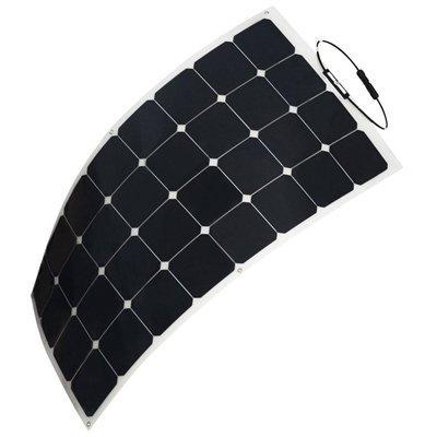HQST 100 Watt 12V Monocrystalline Lightweight Solar Panel for RV/Boat/Other Off Grid Applications (Work In Solar The Do Lights Shade)