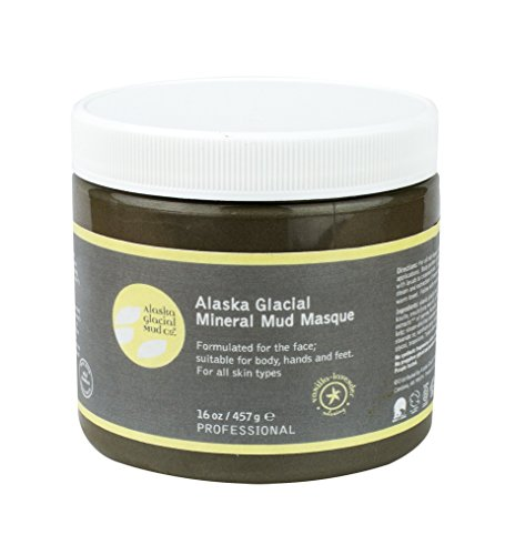 Alaska Glacial Mud Mineral Mud Masque Vanilla Lavender 16oz Anti-Aging Mud Mask Skin Softening, All Skin Types Paraben-Free