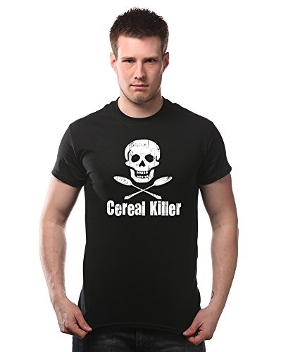Cereal Killer Funny Biker Tattoo Skull Humor T-Shirt