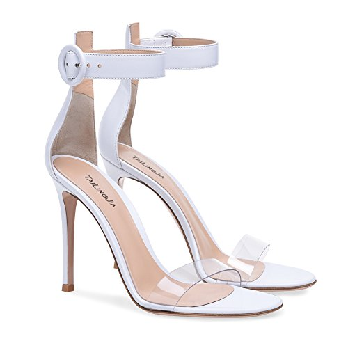 Party amp; Heel Strap Shoes Stilettos Sandals Buckle Heel Womens High Casual Stiletto Club Party Shoes Dress PVC for B Evening Ladies zqwnUCnFP