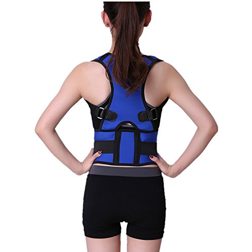Kang Shengyuan Posture Corrector Clavicle Support Brace Medical Device to Improve Bad Posture, Thoracic Kyphosis, Shoulder Alignment, Upper Back Pain Relief for Men and Women Size L Blue