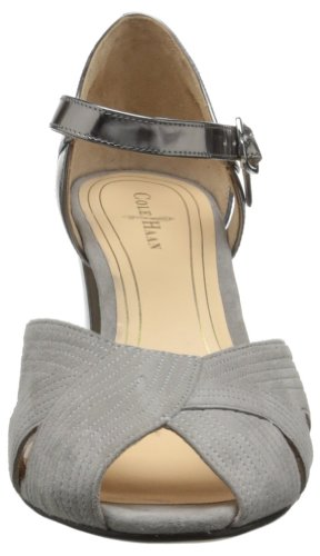Cole Haan Jovie Dames Peep-teen Pump Paloma Suede / Armour Specchio