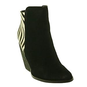 Very Volatile Women's Vinci Ankle Boot Black 7 M US