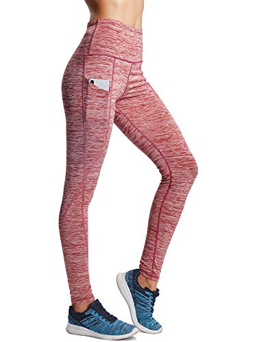 Neleus Tummy Control High Waist Workout Running Leggings for Women,9033,Yoga Pant 3 Pack,Black,Grey,Red,XS,EU S by Neleus (Image #2)