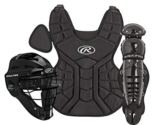 Rawlings Sporting Goods 9-12 Catcher Set Players Series, Black