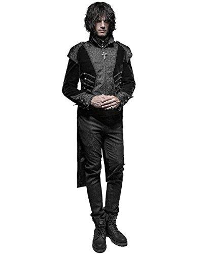 Punk Rave - Manteau - Avec col - Manches Longues - Homme