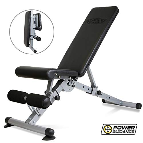 POWER GUIDANCE Weight Bench Adjustable Foldable Strength Training Bench for Home Gym Weightlifting and Strength Training