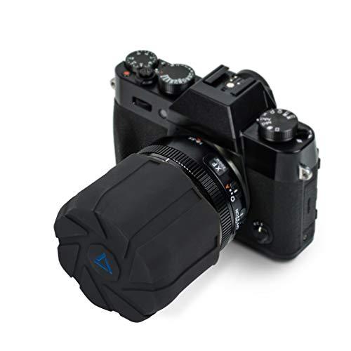 (innelo Camera Lens Cap, Silicone Waterproof Lens Cover Protector for 73-110mm Diameter DSLR Lens (Large-Single))