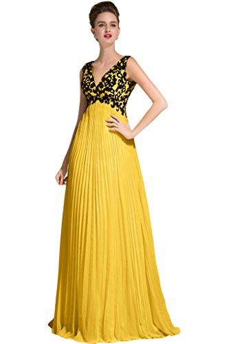 Sunvary - Traje de vestir - para mujer Dorado