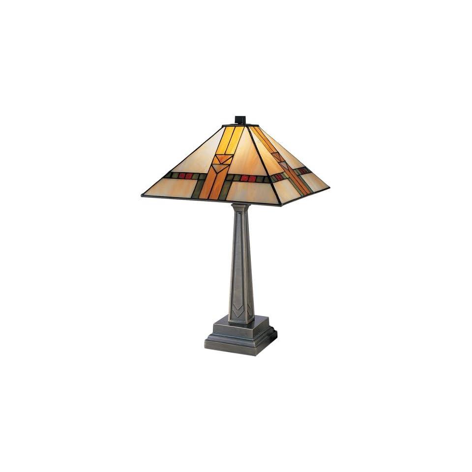 Dale Tiffany 8655/551 Edmund Mission Style Table Lamp, Antique Bronze