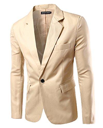 Blazer Classique Kaki Homme Bouton Veste Un Elégant Mariage Business Slim Fit ZxzSvqxw0