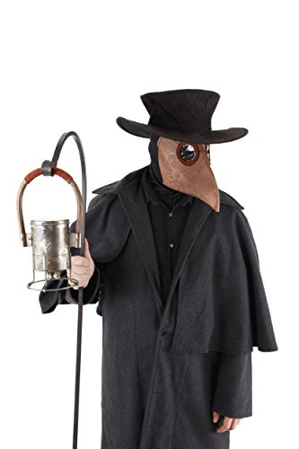 Bubonic Plague Doctor Costume : Mask Hat Headsock