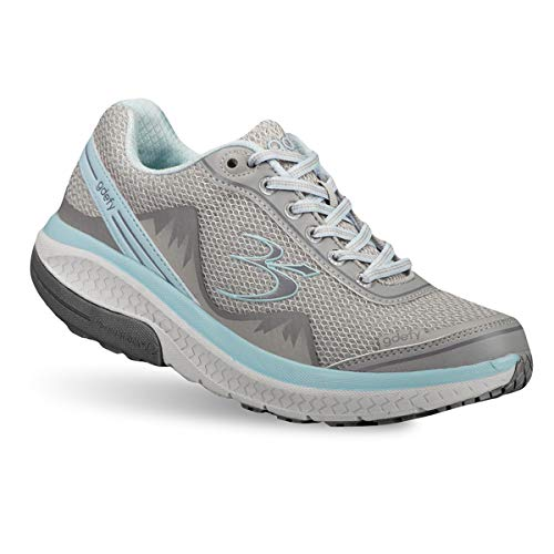 Gravity Defyer Pain Relief Women's G-Defy Mighty Walk Athletic Shoes 9 M US- Shoes for Plantar Fasciitis - Gray, Blue