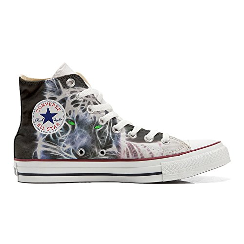 Converse All Star zapatos personalizados (Producto Handmade) tigre blanco with green eyes