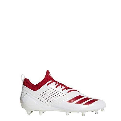 adidas Adizero 5Star 7.0 Cleat Mens Football 10 White-Power Red