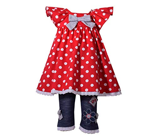 - Bonnie Jean Girl's Nautical Americana Outfit for Baby and Infant Girls (0-3 Months)
