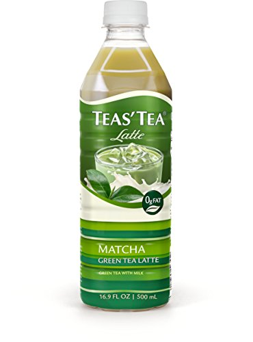 Teas Tea Matcha Green Tea Latte, 16.9 Ounce (Pack of 12), Organic, Cane Sugar Sweetened, Fat Free, No Artificial Sweeteners, Antioxidant Rich, High in Vitamin C, Caffeinated