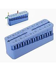 Root Canal Measuring Block, Dental Endo Block Files Measuring Tools, Double Scale Measuring Trough, High Temperature Sterilization, Endodontic Ruler Test Board(Dark Blue)