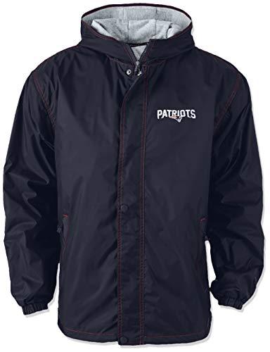 Dunbrooke Apparel NFL New England Patriots Legacy Nylon Hooded Jacket, X-Large, Navy