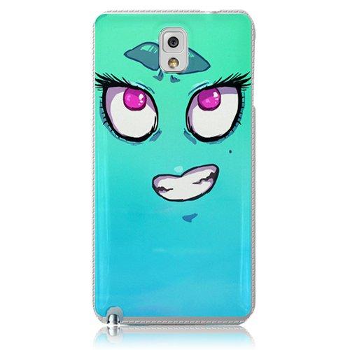 Xtra-Funky Serie Samsung Galaxy Note 3 de dibujos animados loco ojos saltones cubierta de la caja de plástico duro - Señorita Señorita