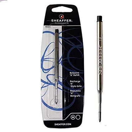 3 PACK - Sheaffer K Ballpoint Pen Refill, Medium Point, Black Ink (SHF99335) by Sheaffer