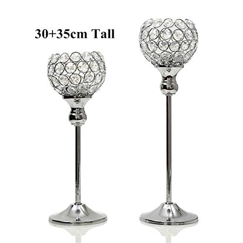 SULYMY | Candle Holders | Crystal Vintage Candle Holders Stand Metal Candlestick Wedding Table Centerpieces Christmas Halloween Thanksgiving -