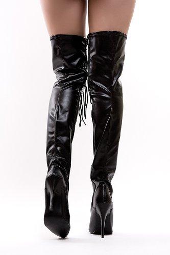 f754f725b616d4 Bottes Gothiques à haut talon avec laçage style corset - Taille 43:  Amazon.fr: Chaussures et Sacs