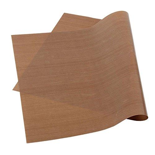 - Dealglad Teflon High Temperature Resistant Heat Press Craft Transfer Sheet Non-stick Oven BBQ Oil Paper Baking Mat (40 x 60cm / 15.7 x 23.6inch, Coffee)