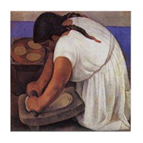 CafePress - Diego Rivera Molendera Art Tile Coaster - Tile Coaster, Drink Coaster, Small Trivet
