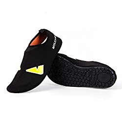 CamoShield Unisex Water Sport Skin Shoes Aqua Socks Unisex for Swimming,Snorkeling,Surfing,Yoga Exercises (EyeBlack.40-41)