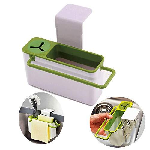 Sink Aid Self-Draining Sink Caddy, Sponge Holder and Brush H