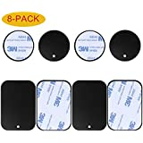 8-Pack Replacement Mount Metal Plates D.Sking Car Phone Holder Iron Plates Car Mount Car Kits (8-Pack Black)