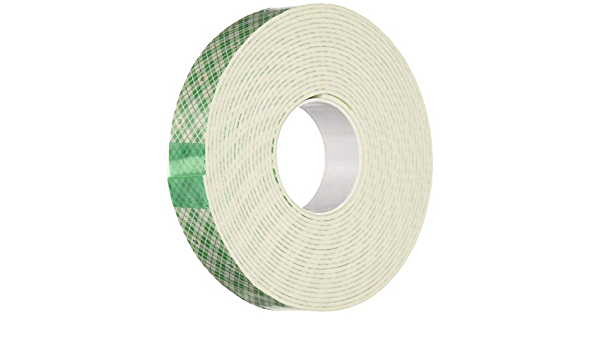 1//32,White 3M Stock# 7000123601 1//2 x 72 yds 1//Case 3M 4462 Double Sided Foam Tape