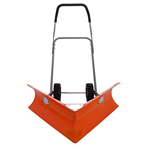 Ivation Dual Angle Snow Pusher - Manual Push Plow for Walkways, Sidewalks, Stoops, Decks, Patios & More - Patented Design