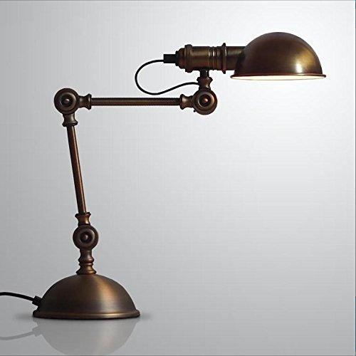 Lampada da tavolo da camera LOFT industriale vento americano retrò lampada studio camera da letto scrivania bronzo personalità creativa lampada lampada a LED