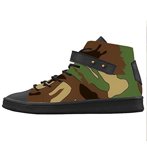 Zapatos De Lona Para Mujer De Camuflaje Personalizado Zapatos Zapatos De Zapatos.