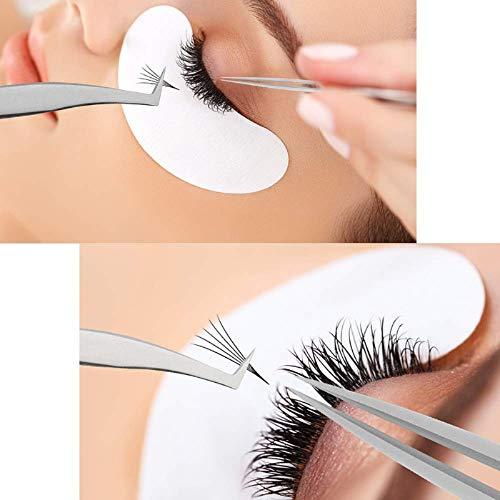 2021 NEWEST SHZDMH Lash Eyelash Extension Tweezers Set Eyelash Applicator Tool Curved and Straight pointed Tweezers for Eyelash Extensions