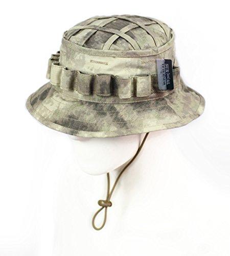 ZAPT Boonie Hat Military Camo Cap Hunter Sniper Ghillie Bucket Hats  Adjustable Jungle Bush Hat. by zapt 07cf467ae532