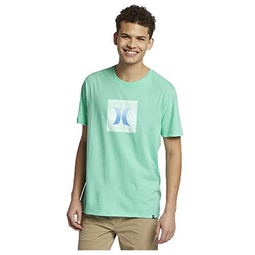 Hurley Men's Premium Blockcon Short Sleeve T-Shirt, Tropical Twist (TRPCLTWST/333), Medium (West Tropical Key Fabrics)