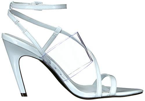 65b3fc7bc0f Calvin Klein Women's Giorgio Heeled Sandal Pastel Blue Liquid Patent/Clear  Lucite 8 M US