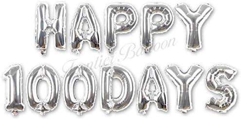 赤ちゃん 100日 誕生日 お祝い 風船 バルーン シルバー 赤ちゃん用品 おもちゃ プレゼント セットデコレーション 撮影 記念日 ぺたんこ配送