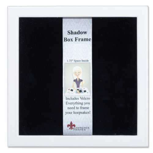 Lawrence Frames 790288 White Wood Shadow Box Picture Frame, 8 by 8-Inch by Lawrence Frames