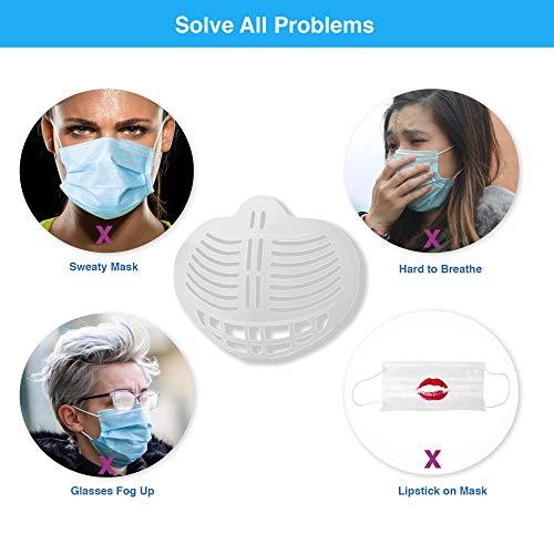 3D Face Inner Bracket for Comfortable Breathing, Reusable Silicone Face Inner Bracket Support Frame for Women&Man (P02)