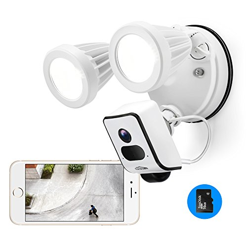 Floodlight Camera Motion-Activated, Famirosa Wifi Wireless Flood Lights Outdoor Security Camera System Motion Sensor