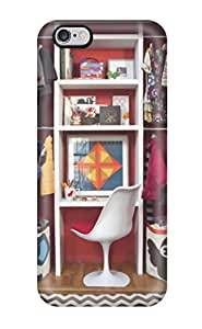 New Child8217s Closet Desk With Red Wall White Shelves 038 Brown 038 White Chevron Flooring Outside Tpu Skin Case Compatible With Iphone 6 Plus