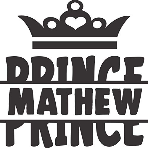 Prince (Your Own Boys Name) Custom Made Vinyl Decal for Your Son's Room - 14 X 14 Inches (Boy's Name)
