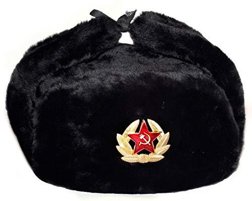 ARTIMS LTD Russian Hat Soviet Army Black KGB Fur Military Cossack Ushanka XL! USSR! (X-Large)